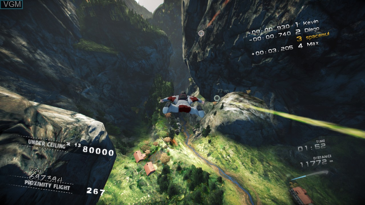 In-game screen of the game Skydive - Proximity Flight on Microsoft Xbox 360