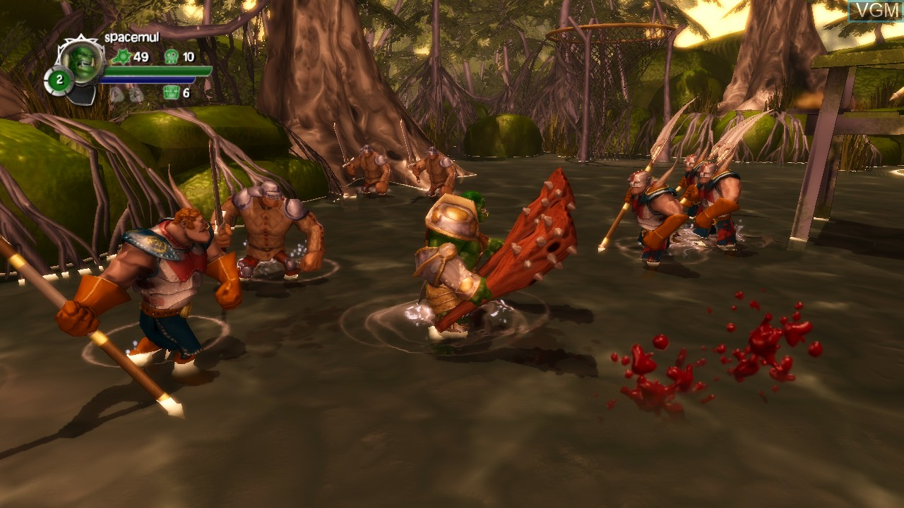 In-game screen of the game Orc Attack - Flatulent Rebellion on Microsoft Xbox 360