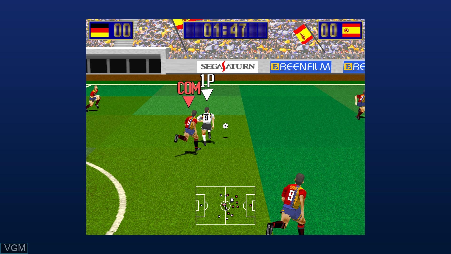 In-game screen of the game Virtua Striker on Microsoft Xbox 360