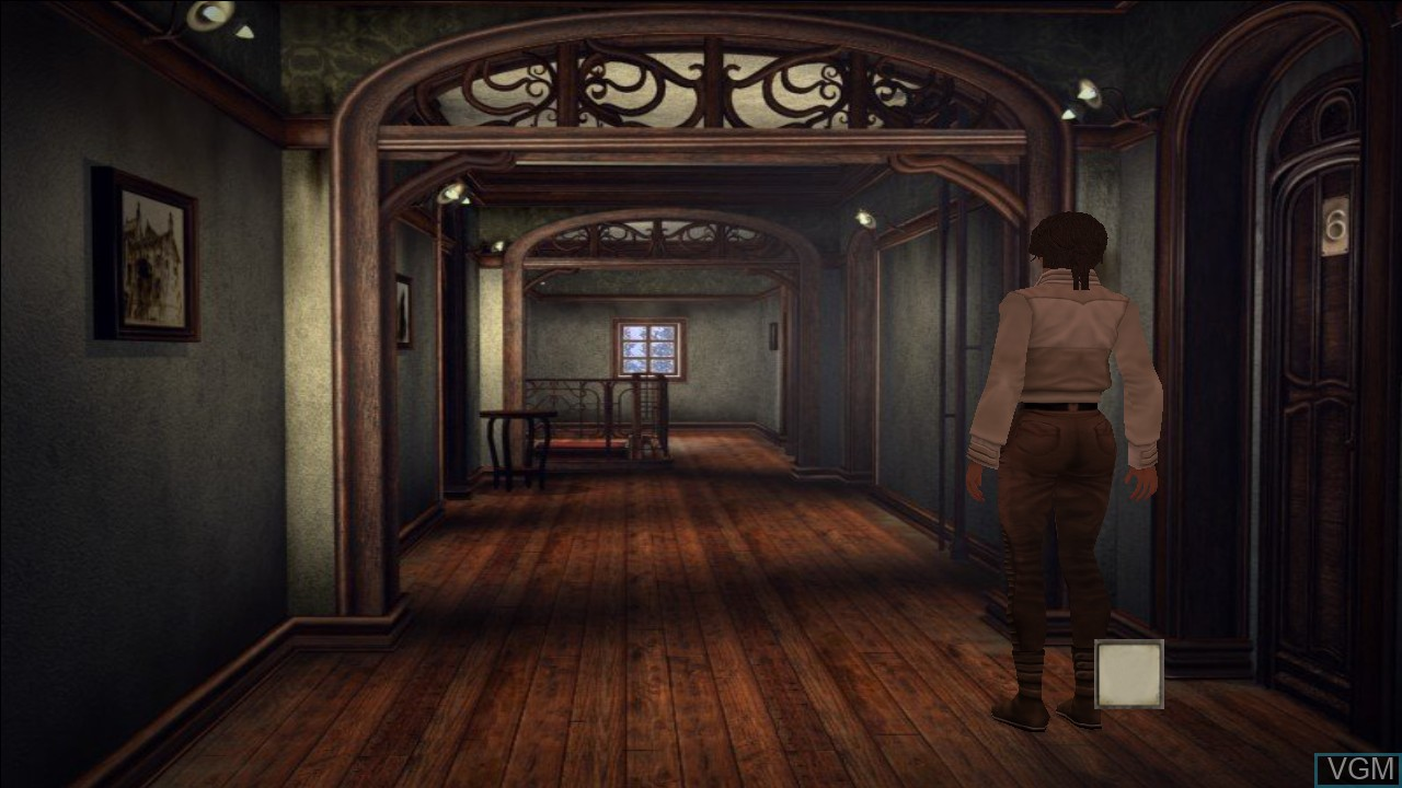 In-game screen of the game Syberia on Microsoft Xbox 360