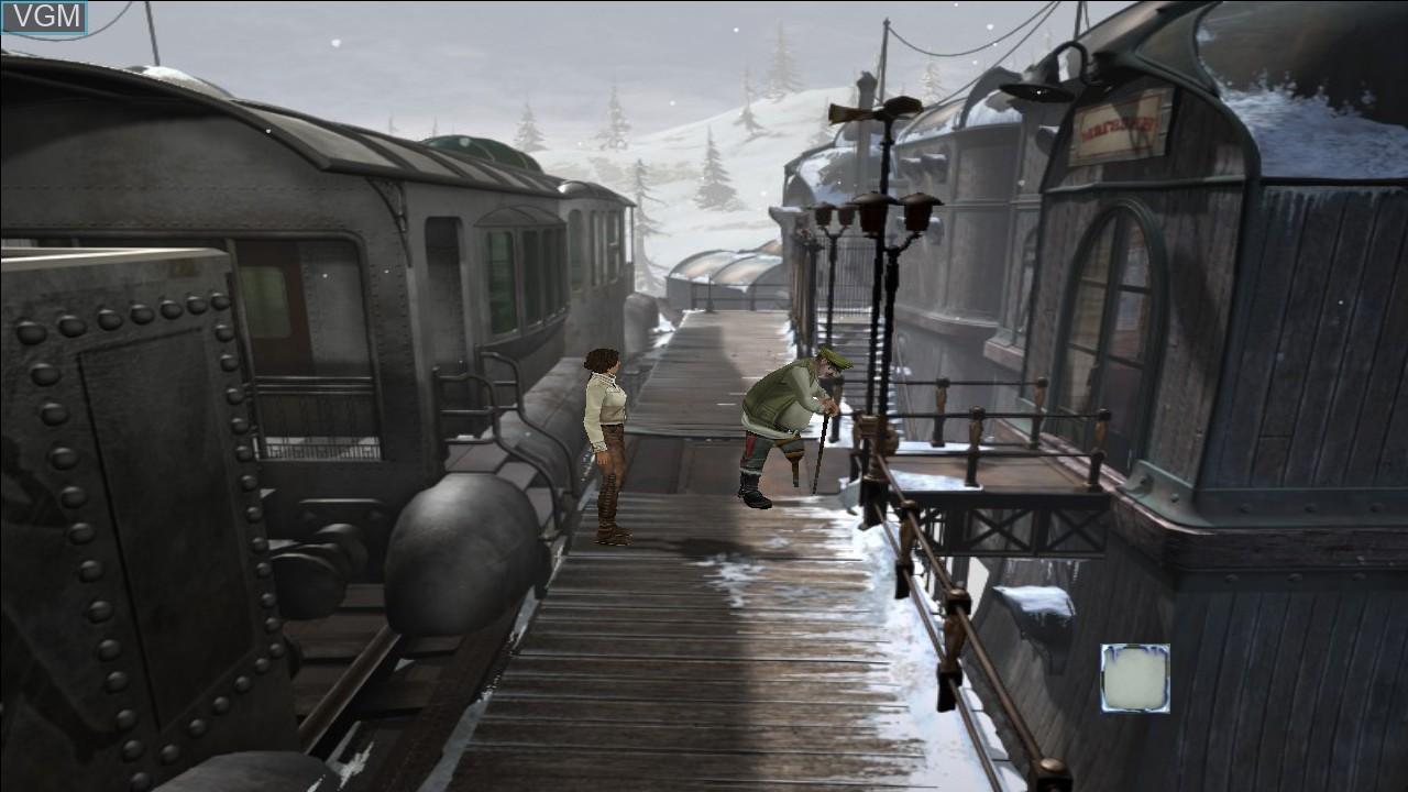 In-game screen of the game Syberia II on Microsoft Xbox 360