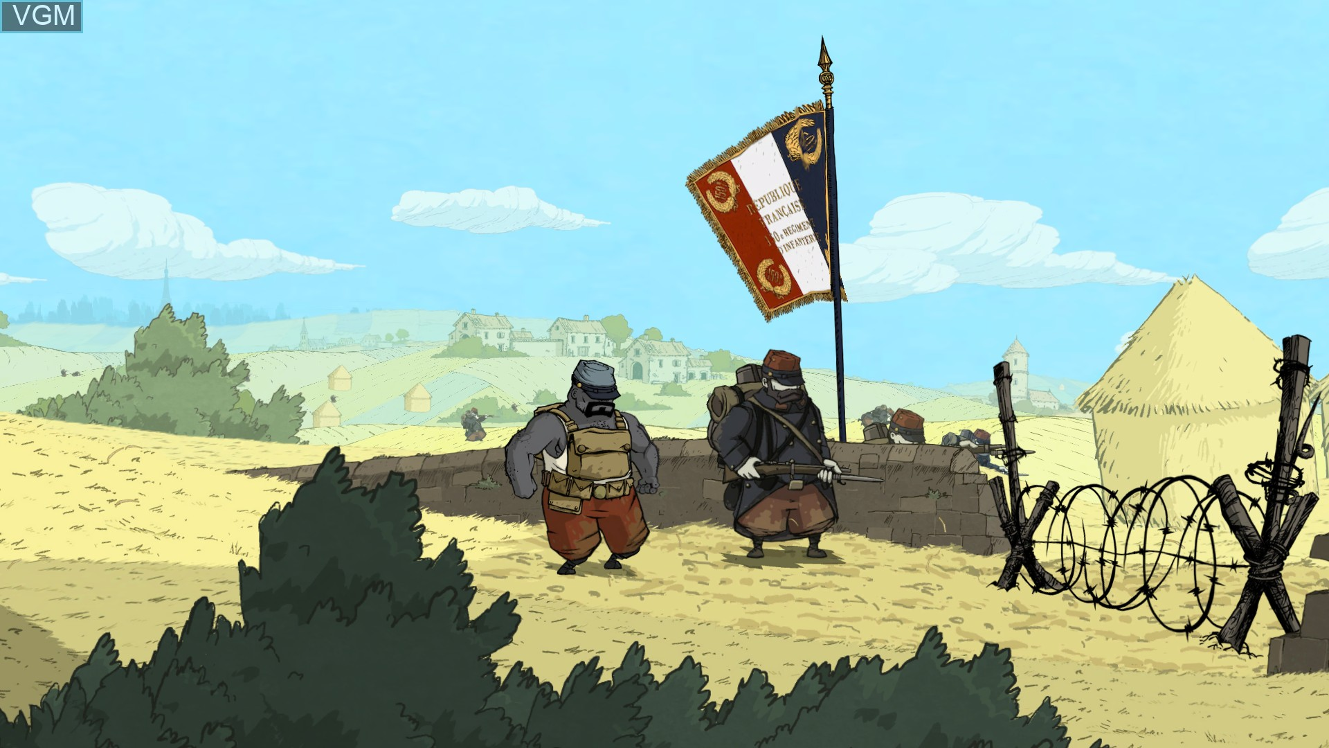 In-game screen of the game Valiant Hearts - The Great War on Microsoft Xbox 360