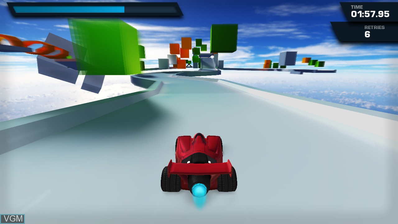 In-game screen of the game Jet Car Stunts on Microsoft Xbox 360