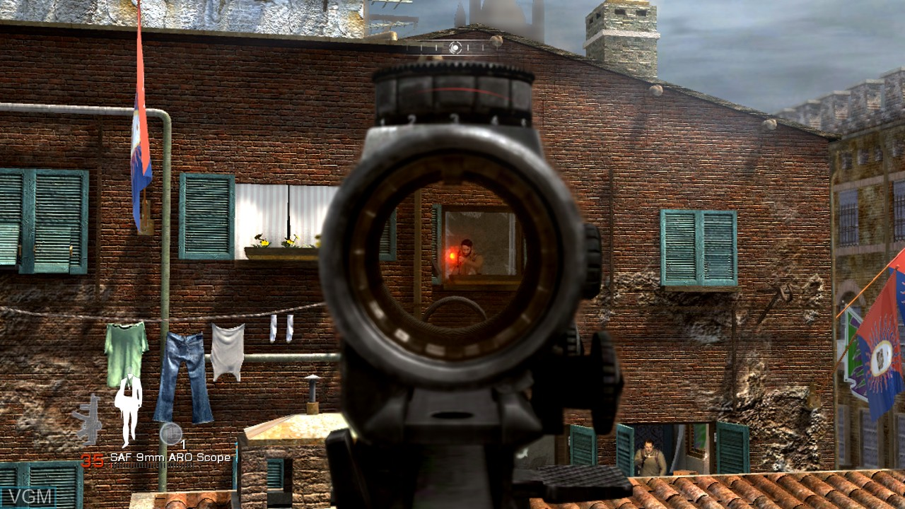 In-game screen of the game 007 - Quantum of Solace on Microsoft Xbox 360
