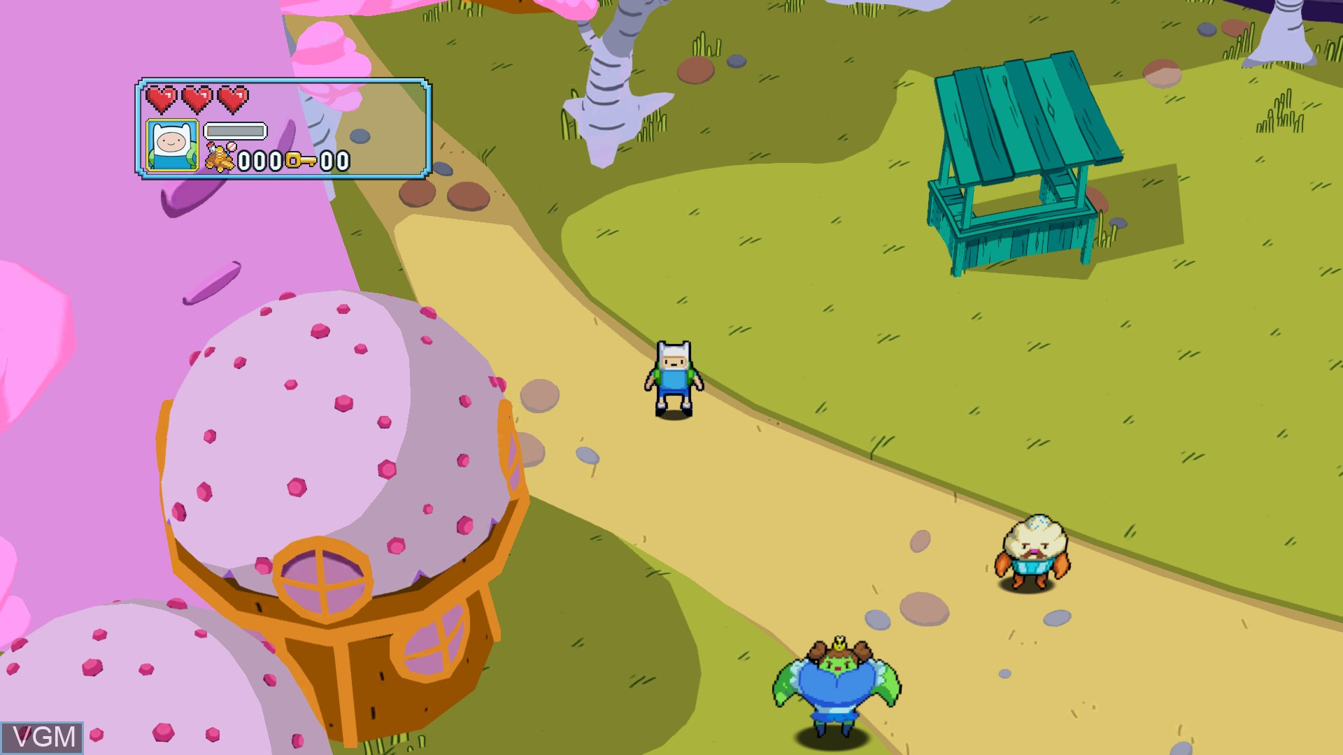 In-game screen of the game Adventure Time - Explore the Dungeon Because I DON'T KNOW! on Microsoft Xbox 360