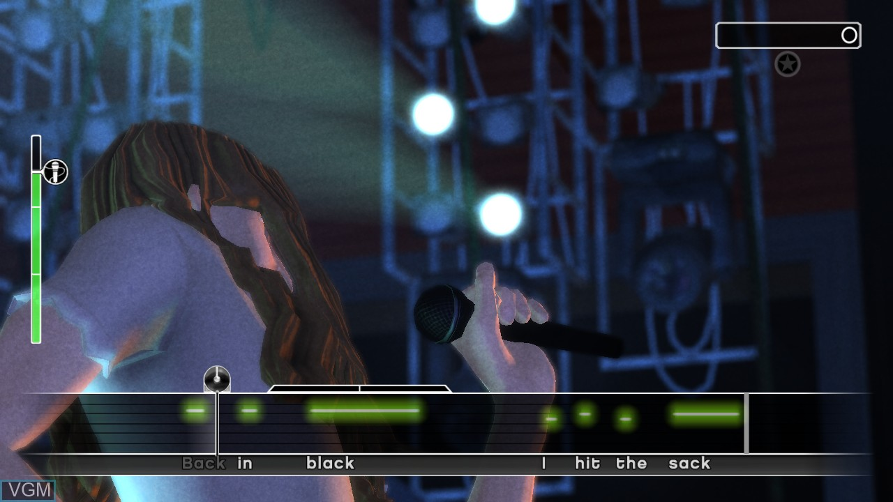 In-game screen of the game AC/DC LIVE - Rock Band Track Pack on Microsoft Xbox 360