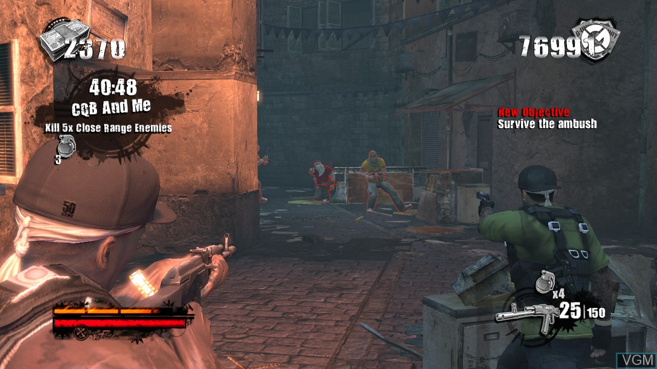 In-game screen of the game 50 Cent - Blood on the Sand on Microsoft Xbox 360
