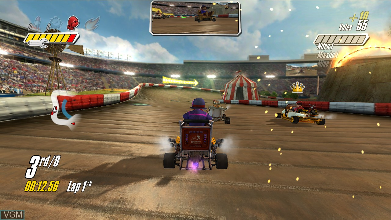 In-game screen of the game Jimmie Johnson's Anything With an Engine on Microsoft Xbox 360