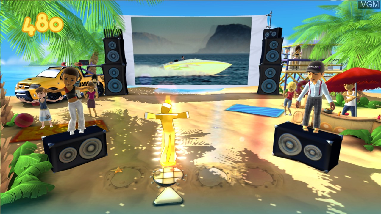 In-game screen of the game Dance Paradise on Microsoft Xbox 360