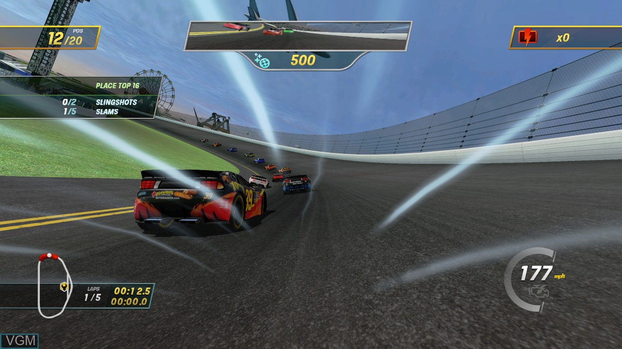 In-game screen of the game NASCAR Unleashed on Microsoft Xbox 360