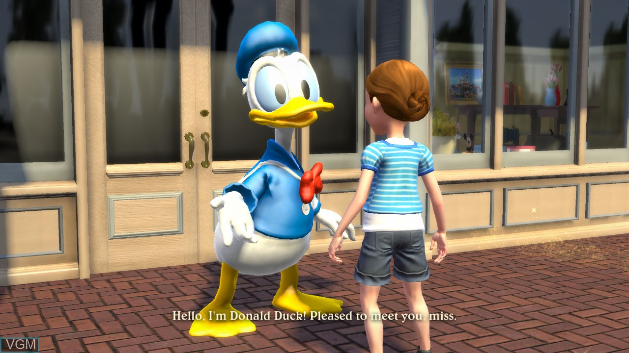 In-game screen of the game Kinect - Disneyland Adventures on Microsoft Xbox 360