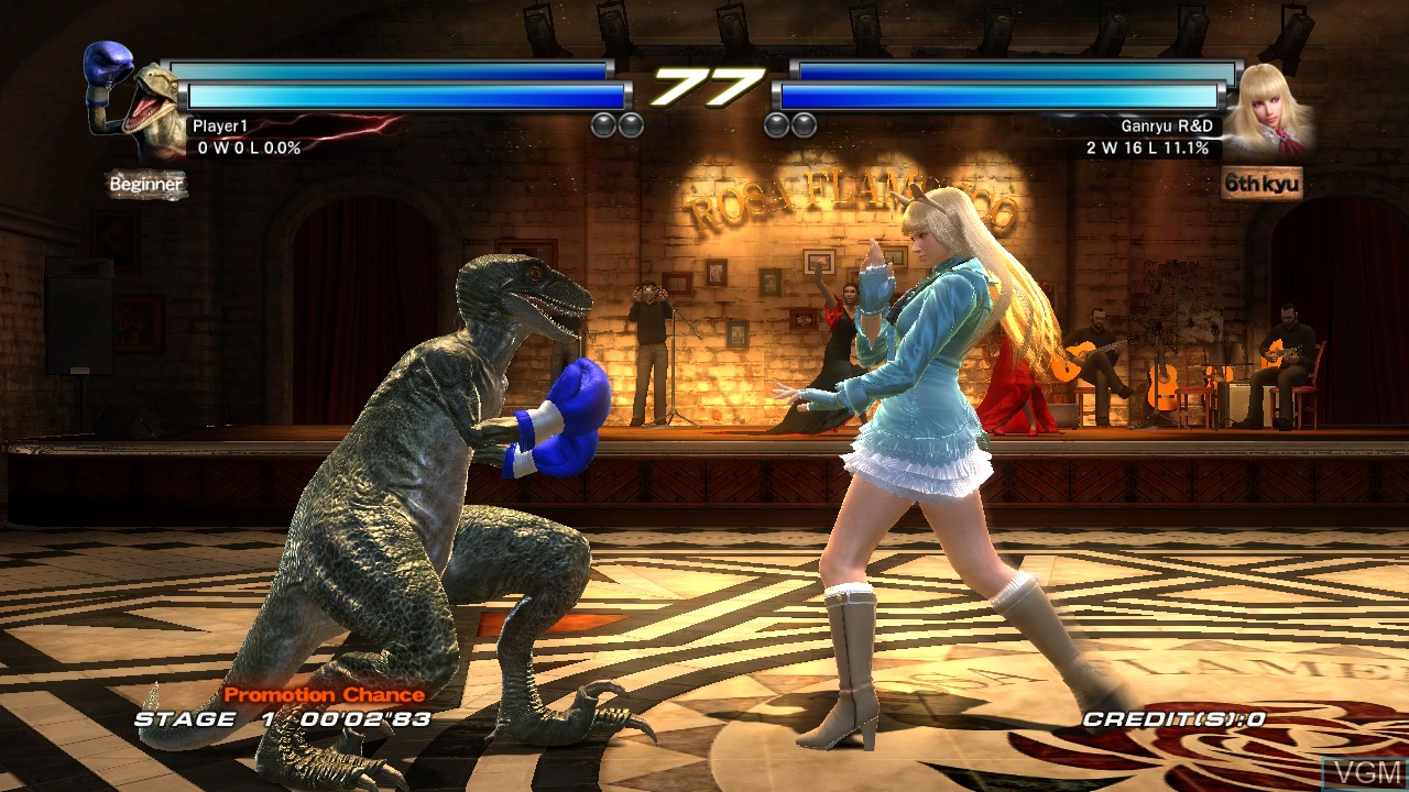 In-game screen of the game Tekken Tag Tournament 2 on Microsoft Xbox 360