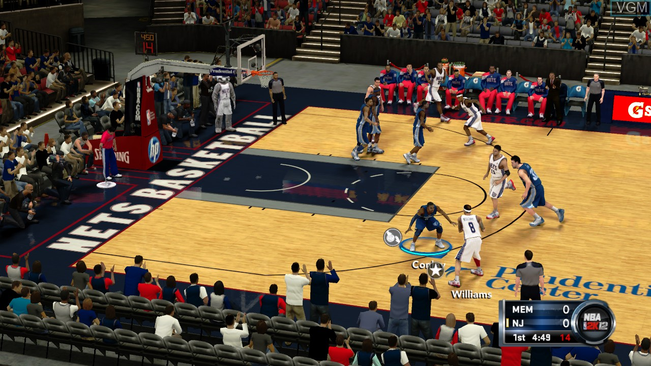 In-game screen of the game NBA 2K12 on Microsoft Xbox 360