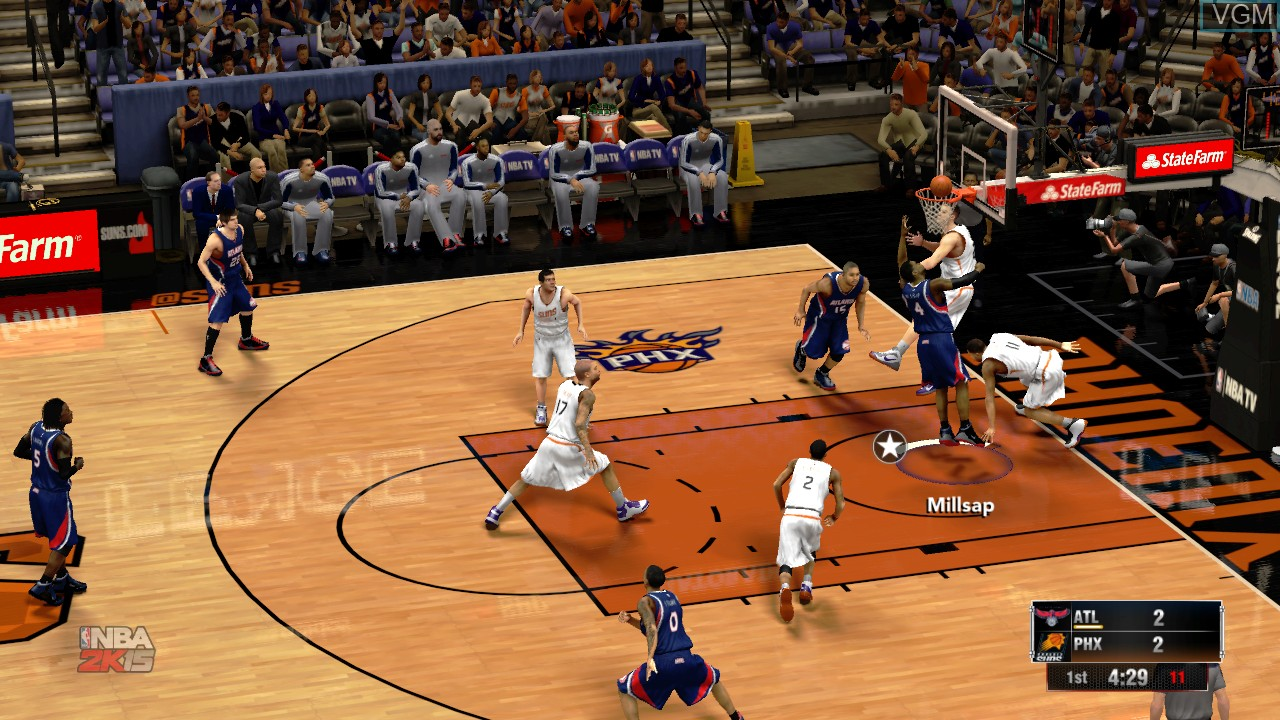 In-game screen of the game NBA 2K15 on Microsoft Xbox 360
