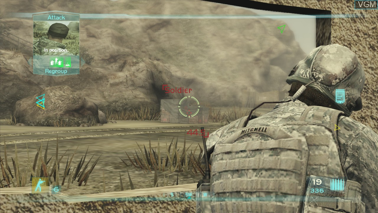 In-game screen of the game Tom Clancy's Ghost Recon Advanced Warfighter 2 on Microsoft Xbox 360