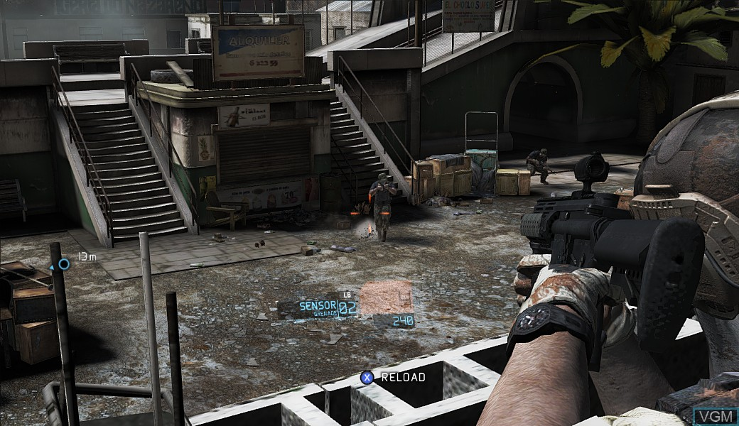 In-game screen of the game Tom Clancy's Ghost Recon - Future Soldier on Microsoft Xbox 360