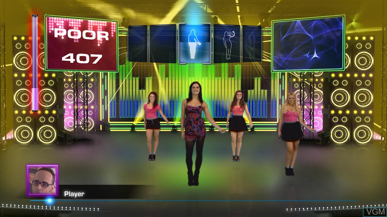 In-game screen of the game Let's Dance on Microsoft Xbox 360