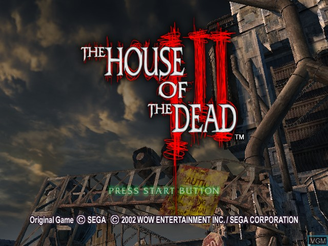 Title screen of the game House of Dead III, The on Microsoft Xbox