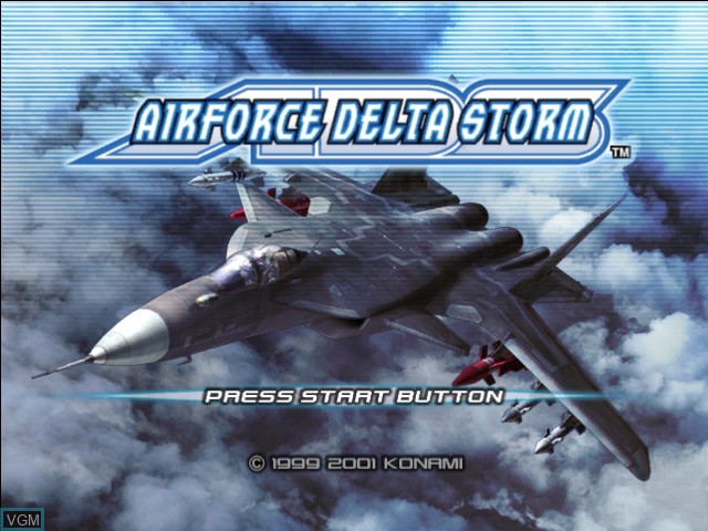 Title screen of the game AirForce Delta Storm on Microsoft Xbox