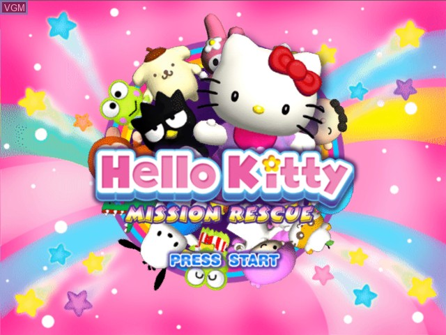 Title screen of the game Hello Kitty - Mission Rescue on Microsoft Xbox