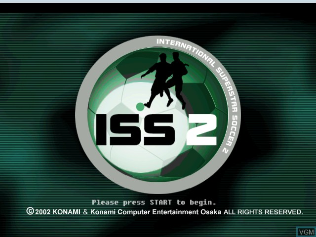 Title screen of the game International Superstar Soccer 2 on Microsoft Xbox