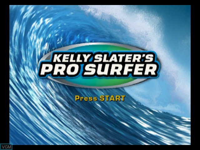 Title screen of the game Kelly Slater's Pro Surfer on Microsoft Xbox