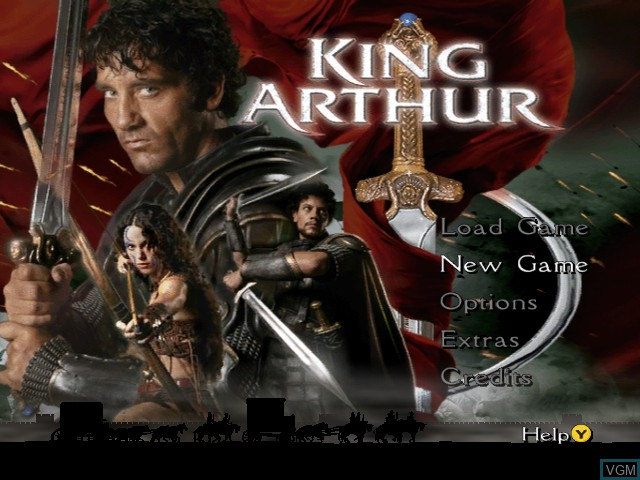 Title screen of the game King Arthur on Microsoft Xbox