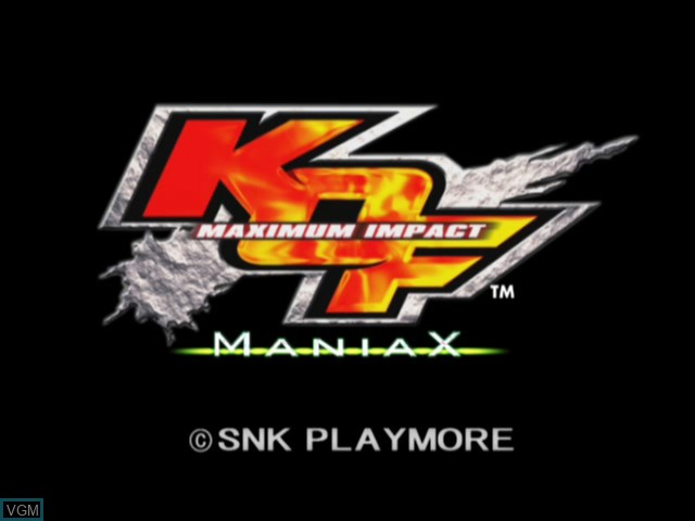 Title screen of the game King of Fighters, The - Maximum Impact - Maniax on Microsoft Xbox