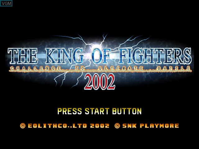 Title screen of the game King of Fighters 2002, The on Microsoft Xbox
