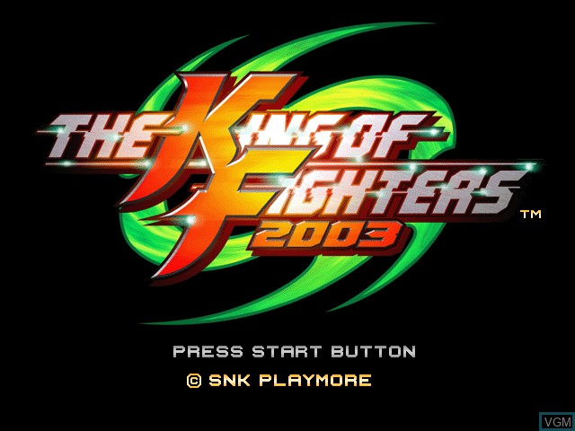 Title screen of the game King of Fighters 2003, The on Microsoft Xbox