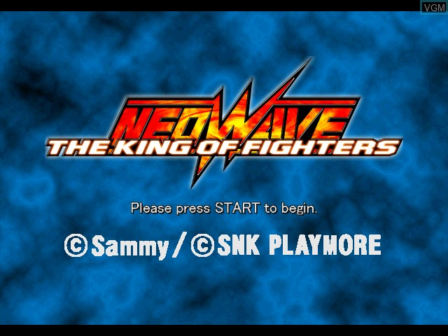 Title screen of the game King of Fighters NeoWave on Microsoft Xbox