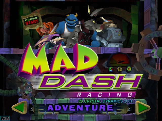 Title screen of the game Mad Dash Racing on Microsoft Xbox