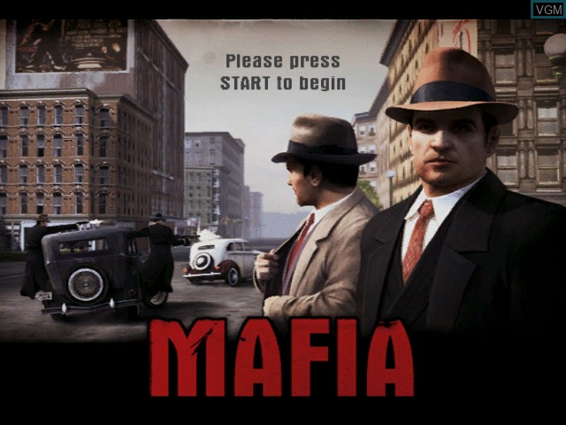 Title screen of the game Mafia on Microsoft Xbox