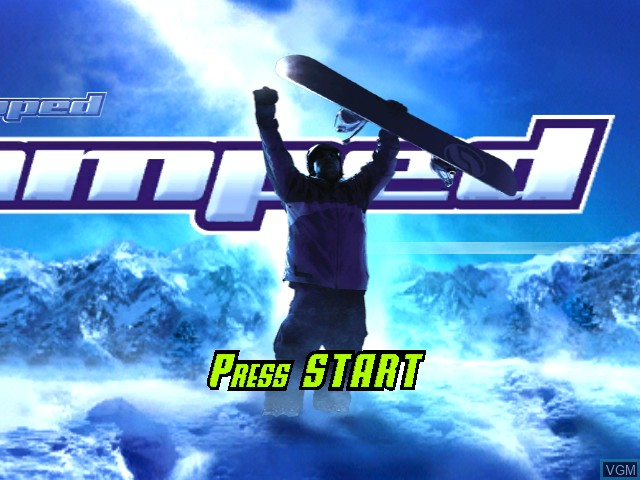 Title screen of the game Amped - Freestyle Snowboarding on Microsoft Xbox