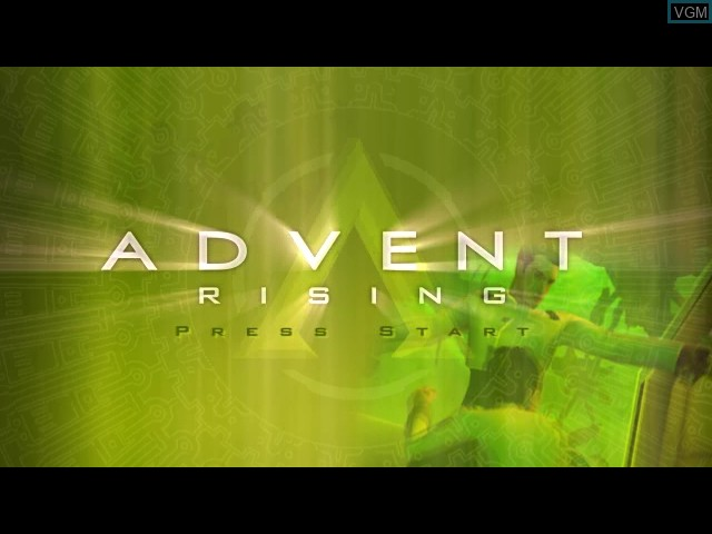 Title screen of the game Advent Rising on Microsoft Xbox