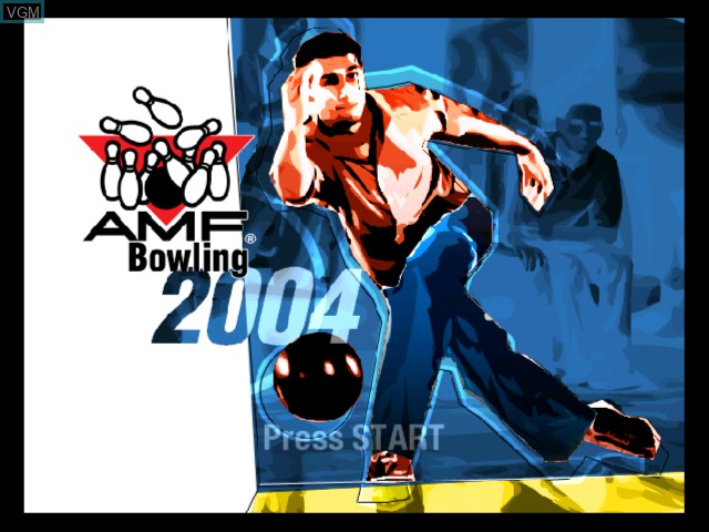 Title screen of the game AMF Bowling 2004 on Microsoft Xbox