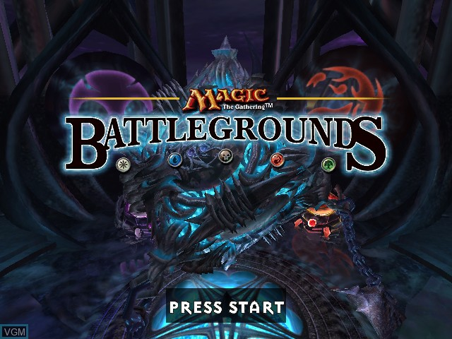 Title screen of the game Magic - The Gathering - Battlegrounds on Microsoft Xbox