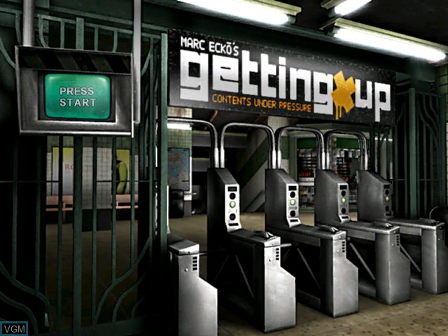 Title screen of the game Marc Ecko's Getting Up - Contents Under Pressure on Microsoft Xbox