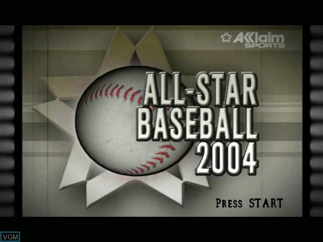 Title screen of the game All-Star Baseball 2004 on Microsoft Xbox