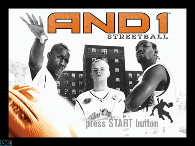 Title screen of the game And 1 Streetball on Microsoft Xbox