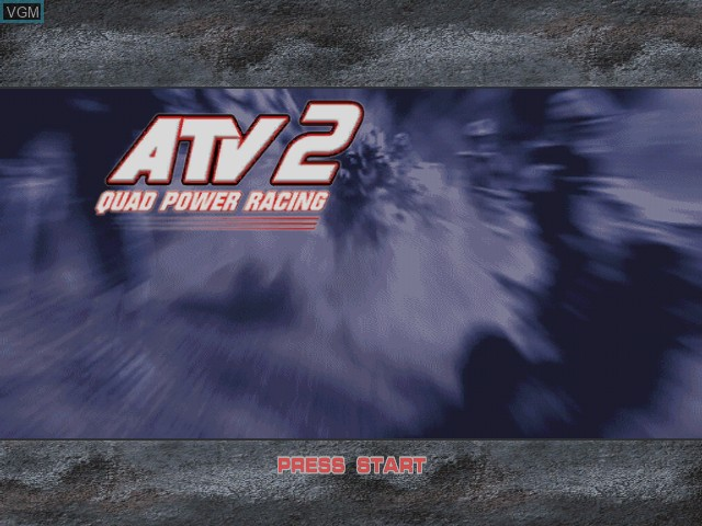 Title screen of the game ATV Quad Power Racing 2 on Microsoft Xbox