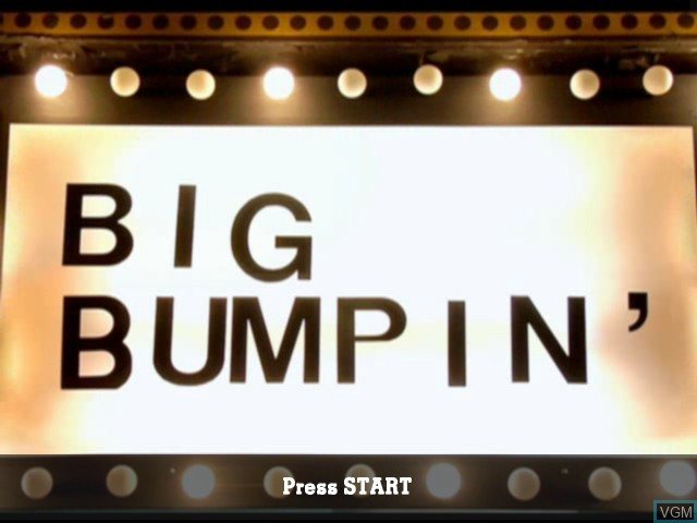 Title screen of the game Big Bumpin' on Microsoft Xbox