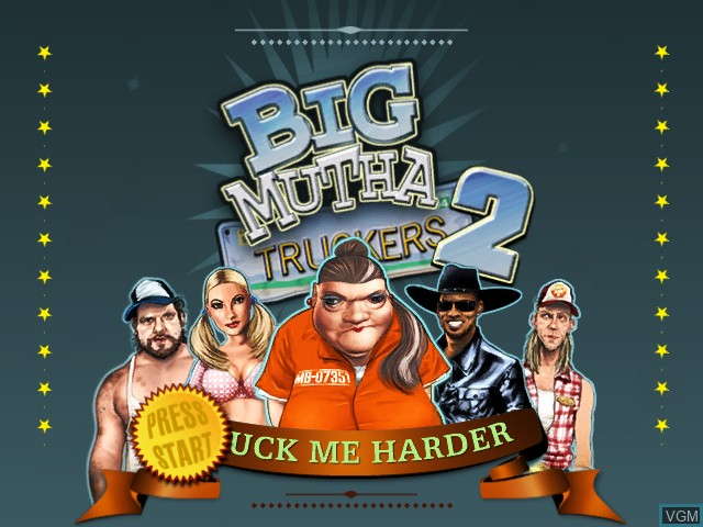 Title screen of the game Big Mutha Truckers 2 on Microsoft Xbox