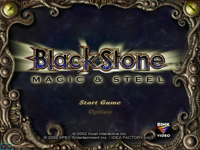 Title screen of the game Black Stone - Magic & Steel on Microsoft Xbox