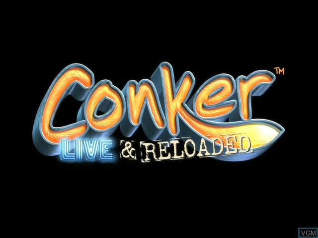 Title screen of the game Conker - Live & Reloaded on Microsoft Xbox