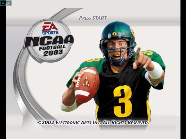 NCAA Football 2003 for Microsoft Xbox - The Video Games Museum