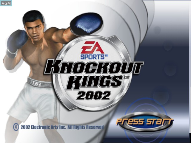 Title screen of the game Knockout Kings 2002 on Microsoft Xbox