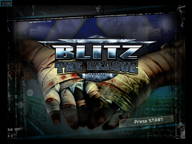 Title screen of the game Blitz - The League on Microsoft Xbox