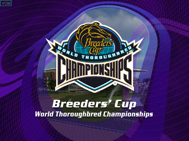Title screen of the game Breeders' Cup World Thoroughbred Championships on Microsoft Xbox