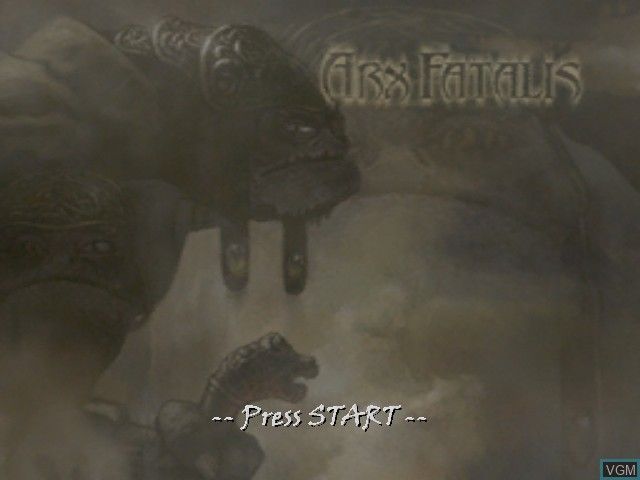 Title screen of the game Arx Fatalis on Microsoft Xbox